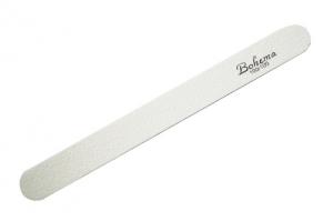 Пилка для искусственных ногтей 2-х сторонняя 80/80, белая - Bohema Cosmetics