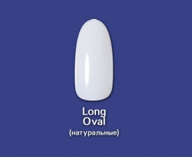 Типсы Long Oval натуральные, 100 шт - Bohema Cosmetics