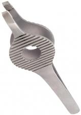 Пинцет для бровей косой с площадкой Silver Star AT 966