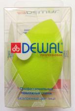 Губка макияжная зелёная DEWAL SPG-24
