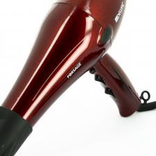 Фен для волос DEWAL Forsage красный, 2200 Вт, ионизация , 2 насадки