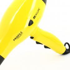 Фен для волос DEWAL Profile Compact желтый, 2000 Вт, ионизация, 2 насадки