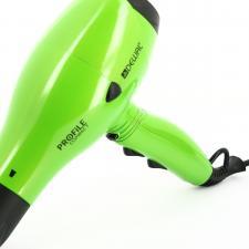 Фен для волос DEWAL Profile Compact зеленый, 2000 Вт, ионизация, 2 насадки