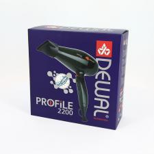 Фен для волос DEWAL Profile 2200 черный, 2200 Вт, ионизация, 2 насадки