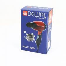 Фен для волос дорожный складной DEWAL New Way, красный 1000Вт