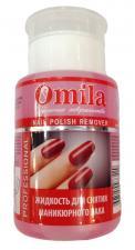 """Жидкость для снятия лака с помпой 150мл, """"Красная роза"""" ОMILA"""